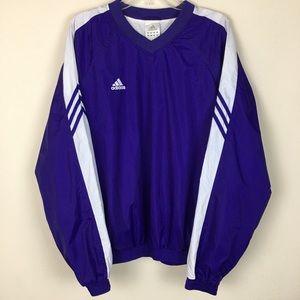 Vintage Adidas large purple pullover windbreaker